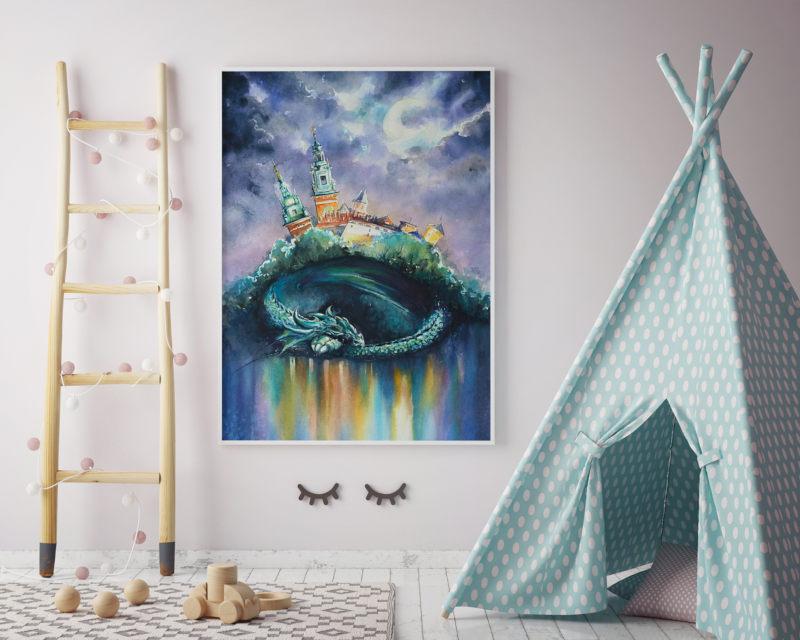 obraz abstrakce drak
